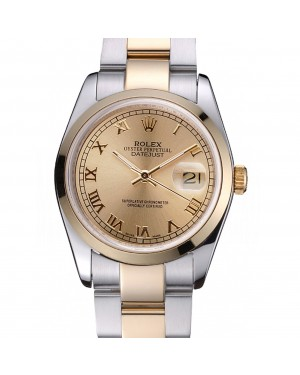 Rolex Datejust Stainless Steel And Gold Case Gold Dial 622265