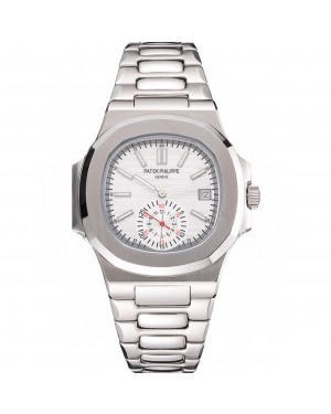 Patek Philippe Nautilus White Dial Stainless Steel Case And Bracelet