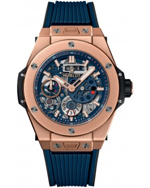 AAA Replica Hublot Big Bang MECA-10 King Gold Blue Watch 414.OI.5123.RX