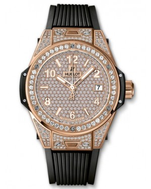 AAA Replica Hublot Big Bang One Click King Gold Full Pave 39mm Watch 465.OX.9010.RX.1604