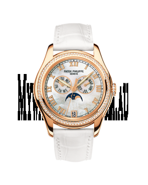 AAA Replica Patek Philippe Annual Calendar Rose Gold Diamond Mother of Pearl Watch 4936R-001