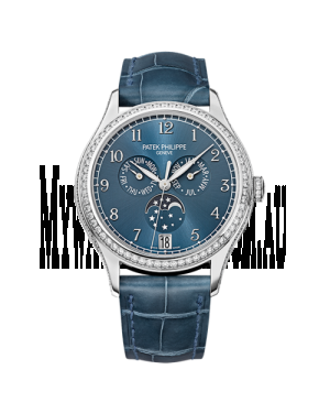 AAA Replica Patek Philippe Annual Calendar White Gold Blue Watch 4947G-001
