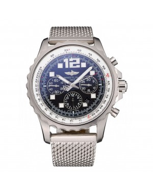 Swiss Breitling Professional Chronospace Black Dial Stainless Steel Case And Bracelet 622874