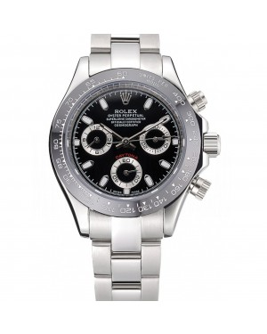 Rolex Cosmograph Daytona Stainless Steel Case Black Silver Subdials Stainless Steel 622635