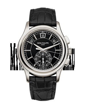 AAA Replica Patek Philippe Annual Calendar Chronograph Black Watch 5905P-010