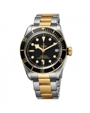 AAA Replica Tudor Heritage Black Bay Steel And Yellow Gold Watch 79733N