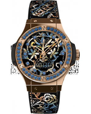 AAA Replica Hublot Big Bang Broderie Sugar Skull Gold Watch 343.PS.6599.NR.1201
