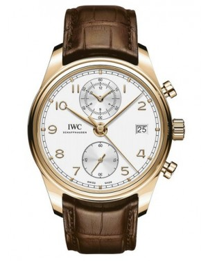 AAA Replica IWC Portugieser Chronograph Classic Red Gold Watch IW390301