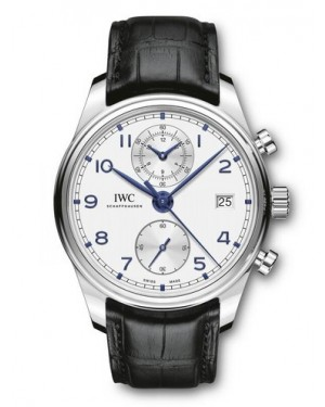 AAA Replica IWC Portugieser Chronograph Classic Silver Dial Watch IW390302
