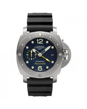 AAA Replica Panerai Luminor Submersible 1950 3 Days GMT Automatic Titanio Pole2Pole Mens Watch PAM00719