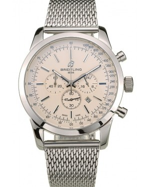 Breitling Transocean Stainless Steel Case Light Yellow Dial