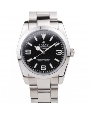 Rolex Explorer Polished Stainless Steel Black Dial 98087