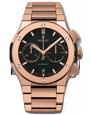 AAA Replica Hublot Classic Fusion Chronograph King Gold Bracelet Watch 520.OX.1180.OX
