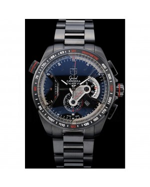 Tag Heuer Carrera Black Stainless Steel Case Black Dial 98243