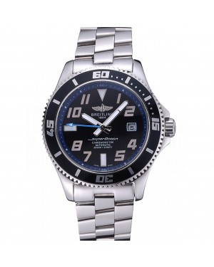 Breitling Superocean 44 Abyss Blue Accents Stainless Steel Bracelet 622506
