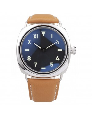 Panerai Radiomir Polished Stainless Steel Case Black Dial Brown Leather Strap 98160