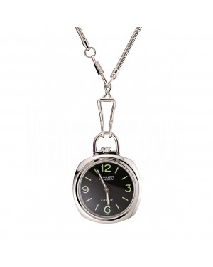 Swiss Panerai Luminor Pocket Watch Black Dial Stainless Steel Case And Chain 1453743