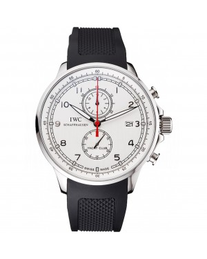 IWC Portugieser Yacht Club White Dial Stainless Steel Case Black Rubber Strap