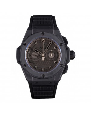 Swiss Hublot King Power Black Dial with Rubber Band shb10 621403
