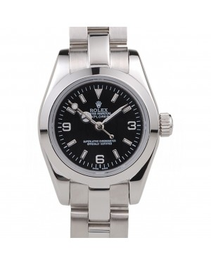 Rolex Explorer Polished Stainless Steel Black Dial 98089