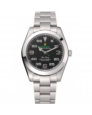 Rolex Air King Black Dial Staineless Steel Bracelet 1454020
