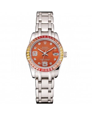 Rolex Datejust Pearlmaster 39 Cognac Dial Stainless Steel Case And Bracelet