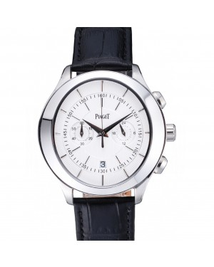 Piaget Gouverneur Chronograph Stainless Steel White Dial 621981