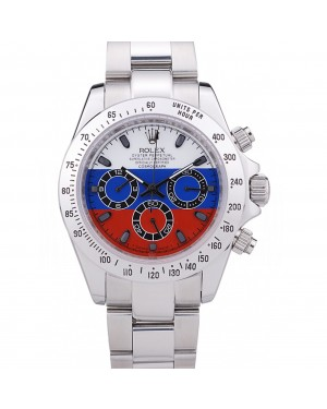 Rolex Cosmograph Daytona Silver Bracelet Russian Flag Dial 7473