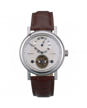 Breguet Classique Complications Stainless Steel Case Brown Leather Strap 80159