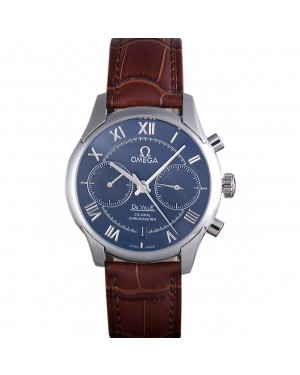 Omega DeVille Silver Bezel with Grey Dial and Brown Leather Strap 621567