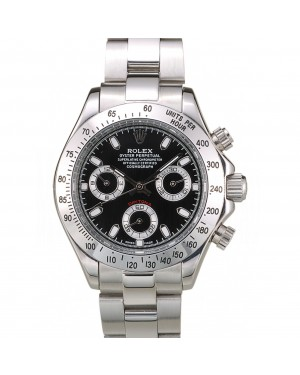 Rolex Daytona Lady Stainless Steel Case Black Dial Tachymeter