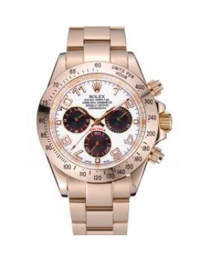 Rolex Cosmograph Daytona White with Black Subdials Gold Bracelet 622548