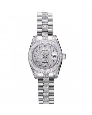 Swiss Rolex DateJust Diamond Dial Stainless Steel 622021
