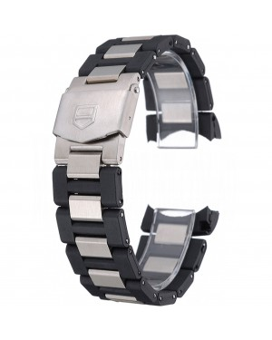 Tag Heuer Plated Stainless Steel and Black Rubber Bracelet 622501