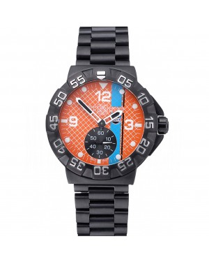 Tag Heuer Formula One Special Gulf Edition Orange And Blue Dial Ion Plated Steinless Steel Bracelet 622291