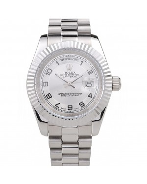 Rolex Day-Date Polished Stainless Steel White Dial