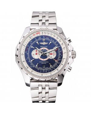 Breitling Bentley Supersports Blue Dial Stainless Steel Case And Bracelet 622221