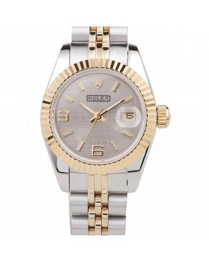 Rolex Datejust Two Tone Stainless Steel Yellow Gold Plated 98078
