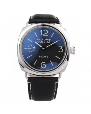 Panerai Radiomir Polished Stainless Steel Case Black Dial Black Leather Strap 98138