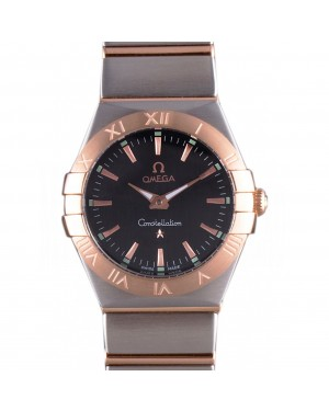 Omega Constellation Rose Gold Bezel Two Tone Band som100 621480