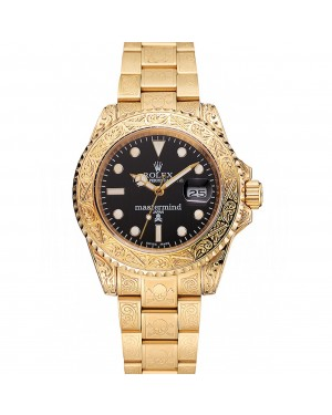 Rolex Mastermind Japan Limited Edition Black Dial Gold Case And Bracelet 1454072