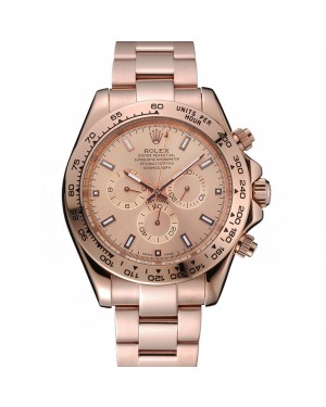 Rolex Cosmograph Daytona Pink Dial Rose Gold Case And Bracelet 1454247