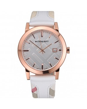 Burberry The City Classic Silver Dial White Bracelet 622563